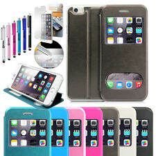 """New Flip Leather Wallet View Window Skin Case Cover for iPhone 6 / 6S 4.7"""""""