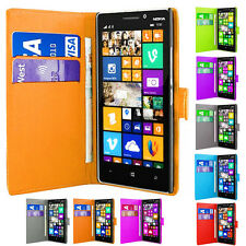 Magnetic Side Wallet Flip Book PU Leather ID Case Cover For Nokia Lumia Phones