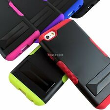"For Apple iPhone 6 4.7"" Plus 5.5"" Gear Fusion Hybrid Slim Hard Case w/Stand"