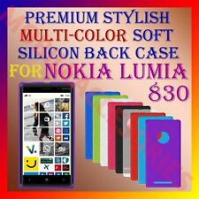 ACM-PREMIUM MULTI-COLOR SOFT SILICON BACK CASE of NOKIA LUMIA 830 MOBILE COVER