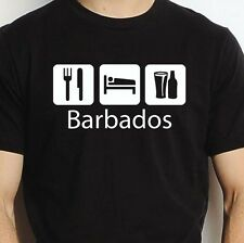 BARBADOS EAT SLEEP DRINK BARBADOS PERSONALISED T SHIRT