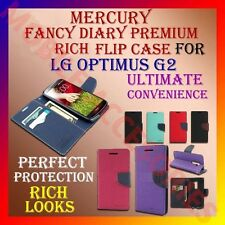 ACM-MERCURY PREMIUM DIARY FLIP CASE for LG OPTIMUS G2 MOBILE WALLET RICH COVER