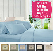 1800 Count 4 Piece Bed Sheet Set Deep Pocket 6 Color 5 Size Available New