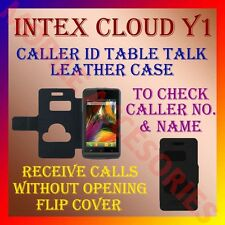 ACM-CALLER ID TABLE TALK CASE for INTEX CLOUD Y1 MOBILE FLIP FRONT & BACK COVER