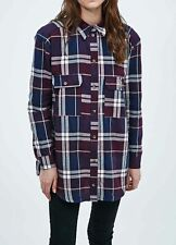 URBAN OUTFITTERS BDG OVERSIZED PURPLE CHECKED TUNIC SHIRT Size 8