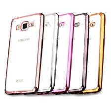 Transparent tpu soft Color Plating Back Covers case For Samsung Galaxy A5 and E7