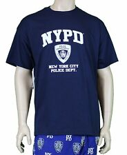 NYPD Short Sleeve White Print T-Shirt Navy New York City Gift Souvenir Police