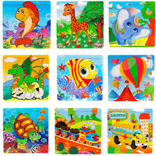 16PCS Baby Kids Wooden Jigsaw Toys Educational Toy And Learning Puzzles Toys HOT