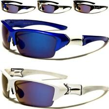 NEW SUNGLASSES BLACK DESIGNER MENS LADIES SEMI RIMLESS MIRRORED WRAP SPORT LARGE