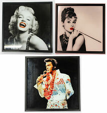 LESSER AND PAVEY ICON GLITTER WALL ART (3 DESIGNS) LP27691/LP27692/LP27693
