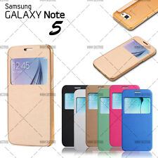 ETUI COQUE HOUSSE FLIP COVER VIEW SAMSUNG GALAXY NOTE 5 + FILM OFFERT