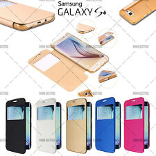 ETUI COQUE HOUSSE FLIP COVER VIEW SAMSUNG GALAXY S6 + FILM OFFERT