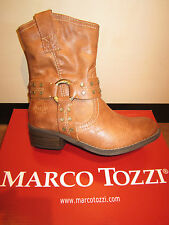 Marco Tozzi Boots 46406 Ankle boots, brown, cognac, padded, RV NEW