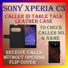 ACM-CALLER ID TABLE TALK CASE for SONY XPERIA C3 MOBILE FLIP COVER PROTECT NEW