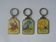 DISNEY PORTACHIAVI 'PHILIP' - WINNIE THE POOH & FRIENDS DESIGN SMALTATO
