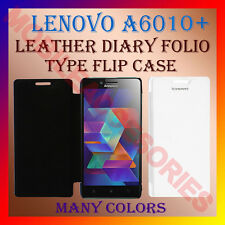 ACM-LEATHER DIARY FOLIO FLIP CASE COVER for LENOVO A6010+ PLUS FRONT & BACK NEW