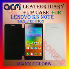 ACM-LEATHER DIARY FOLIO FLIP FLAP CASE for LENOVO K3 NOTE MUSIC EDITION COVER