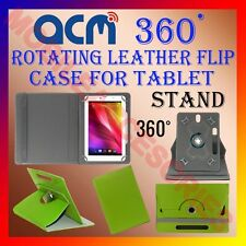 "ACM-ROTATING GREEN FLIP STAND COVER 8"" CASE for XOLO QC800 360 ROTATE TABLET TAB"