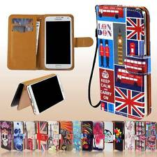 New Universal Folio Flip Wallet Stand Leather Case Cover For Various SmartPhones