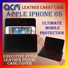 ACM-HORIZONTAL LEATHER CARRY CASE for APPLE IPHONE 6S MOBILE POUCH COVER HOLDER