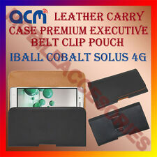 ACM-BELT CASE for IBALL COBALT SOLUS 4G MOBILE LEATHER POUCH COVER HOLDER CLIP