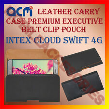 ACM-BELT CASE for INTEX CLOUD SWIFT 4G MOBILE LEATHER POUCH COVER HOLDER HOLSTER