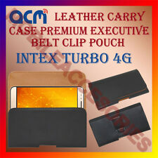 ACM-BELT CASE for INTEX TURBO 4G MOBILE LEATHER POUCH COVER HOLDER HOLSTER NEW