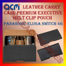ACM-BELT CASE for PANASONIC ELUGA SWITCH 4G MOBILE LEATHER POUCH COVER HOLDER