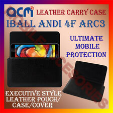 ACM-HORIZONTAL LEATHER CARRY CASE for IBALL ANDI 4F ARC3 MOBILE POUCH COVER NEW