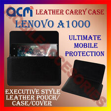 ACM-HORIZONTAL LEATHER CARRY CASE for LENOVO A1000 MOBILE POUCH COVER HOLDER NEW