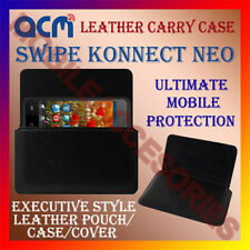 ACM-HORIZONTAL LEATHER CARRY CASE for SWIPE KONNECT NEO COVER POUCH HOLDER NEW