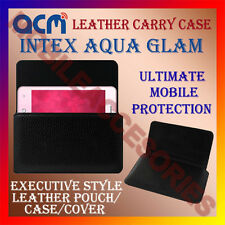 ACM-HORIZONTAL LEATHER CARRY CASE for INTEX AQUA GLAM MOBILE POUCH COVER HOLDER