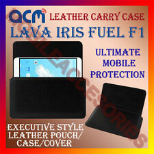 ACM-HORIZONTAL LEATHER CARRY CASE for LAVA IRIS FUEL F1 MOBILE POUCH COVER NEW