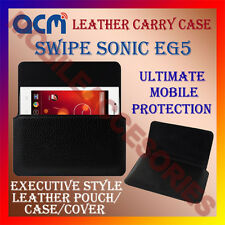 ACM-HORIZONTAL LEATHER CARRY CASE for SWIPE SONIC EG5 MOBILE COVER POUCH HOLDER