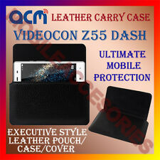 ACM-HORIZONTAL LEATHER CARRY CASE for VIDEOCON Z55 DASH MOBILE COVER POUCH NEW