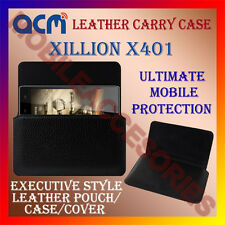 ACM-HORIZONTAL LEATHER CARRY CASE for XILLION X401 MOBILE COVER POUCH HOLDER NEW