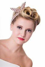 Banned Dusty Pink Polka Dots Hairband