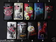Premium Printed Soft Silicon Back Cover Case For Nokia Lumia 520 525 Sparkle