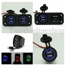 LED Allume Cigare Prise 3.1A 12-24V 2 USB Adaptateur Chargeur MOTO Auto Voiture
