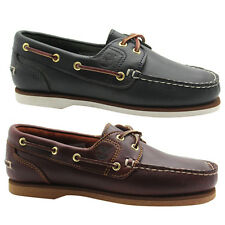 Timberland Unisex Classic Amherst 2 Eye Boat Shoes Womens Mens Lace Up
