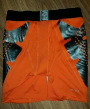 NIKE MENS  PRO COMBAT HYPERSTRONG COMPRESSION SLIDER SHORTS ORANGE