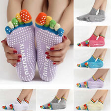 Five Toes Yoga Sock Pilates Fitness Gym Exercise Non-Slip Grip Sock Massage Warm