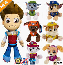 "PLUSH PUP PALS 8"" PAW PATROL SKYE / ZUMA OR ROCKY SOFT PLUSH TOY NICKELODEON DOG"