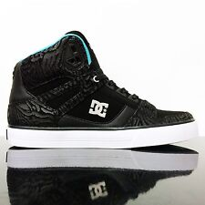 DC SHOES SPARTAN HIGH WC BLACK AQUA HI TOP SKATE TRAINERS