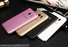 For Samsung Galaxy Mobiles Luxury Aluminium Metal Bumper with PC Back Cover Case