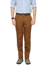 F Factor by Pantaloons Khaki Slim Fit Flat Front Trousers