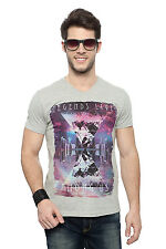 SF Jeans by Pantaloons Grey Casual Graphic Printed T Shirt
