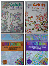 Adult Colouring Books, Stress Relieving patterns & designs, A4 size, Relax, NEW
