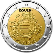 UNC 2012 Commemorative 2 Euro coin 10th Anniversary of Euro coins and notes TYE