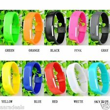 Unisex Silicon Sports Wrist Watch with different color Wrist Band wrist watch